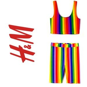PRIDE x H&M. Cycling Top and Shorts